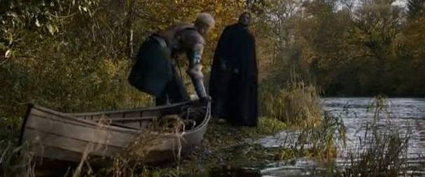 Brienne of Tarth launching her 'Riverrun'